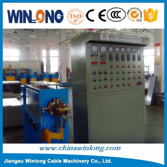Electric Wire Extrusion Machine / Cable Making Equipment / Teflon cable extruder machine