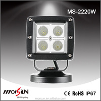 square 20W Led work light led offroad led lights roof rack led lights 4x4 accessories