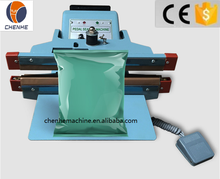 CH-450X2 Aluminium Frame Simple Heat Pedal Foot Sealing Machine For plastic foil bag