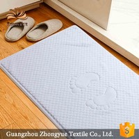 Wholesale cotton cloth hotel bath floor mat, bath foot towel