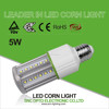 clear and forsted cover, 5w IP64 LED corn light, 5 years warranty