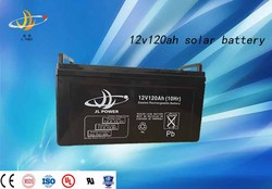 High quality 12v 120ah solar deep cycle battery with powergor technology high quality made in China