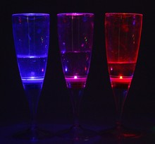 Water inductiont tall highball Light-up LED glass waterproof goblet wine cup active glow champagne led glass kitchen led glass
