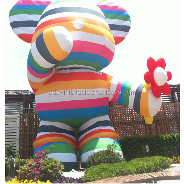 Festival Event Decoration Cartoon Replica Rainbow Inflatable Mickey Mouse For Velentine's Day A306