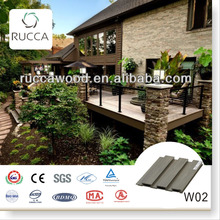 Rucca 2017 WPC/Wood PVC Mould Resistant, Exterior Decorative Wall Panel as Material for Prefabricated House 204*16mm