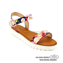 2015 Ladies Thick PVC White Flat Sole Cloth Fabric Upper Simple Elegant Topless sandal shoes