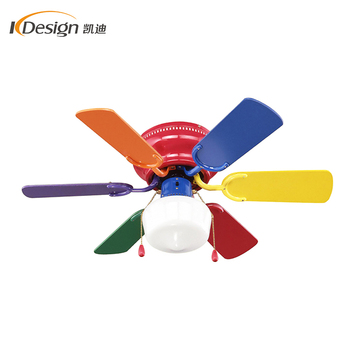 Factory price fancy kdk decorative ceiling fan 220v small size 6 blade outdoor ceiling light and fans