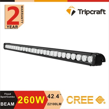 260W 42.5 INCH super slim led off road light with CE RoHS IP67