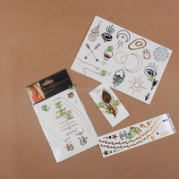 CUSUN2294 Non-toxic Ink Fake Gold Foil Metallic Tattoo