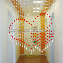 Red Crystal Bead Curtain For Wedding Decoration