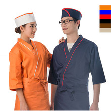 New design 65% polyester 35% cotton chef cook uniform chef jacket japanese style restaurant manager uniform