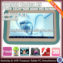 Latest rk2928 android tablet pc with hdm i input+entrada
