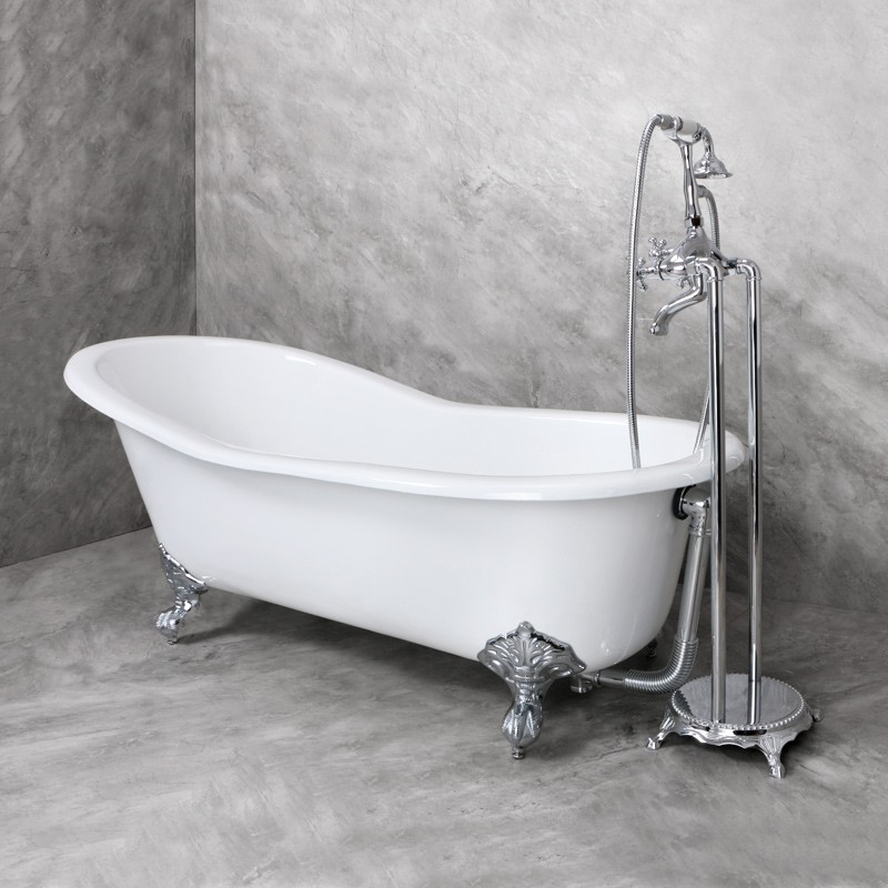 new design cast iron bath tub with clawfoot