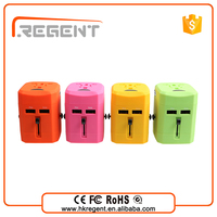 RGSY-188 colorful portable dual usb universal charger for mobile charger/ android tablet pc/Smart phone/MP3