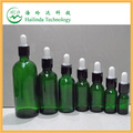 2014 factory price green glass bottles with dropper