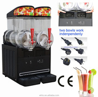 black color slushy machine smoothie machine frozen ice slush dispenser 2 x 10 l