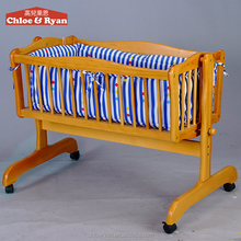 China wholesale wooden cradle automatic swing baby bed indoor