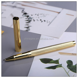 Top quality luxury gold plated metal brass roller ball pen