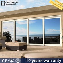 Large size good quality double hollow 5+9+5mm glazing decorative sliding door grills designs
