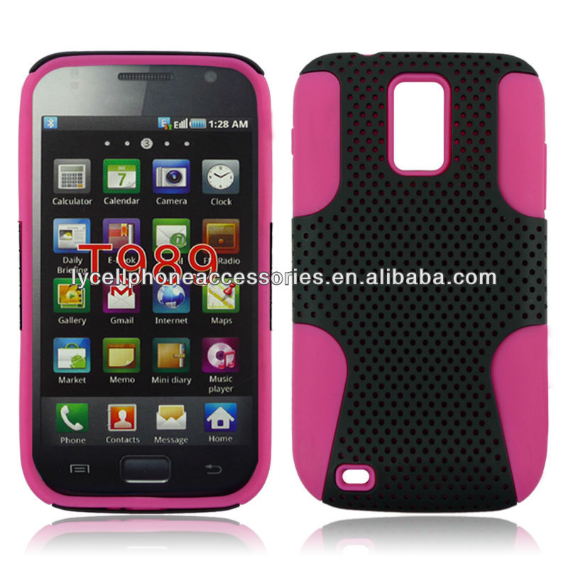 For Samsung Hercules T989 Accessory Combo Phone Mesh Protective Cover