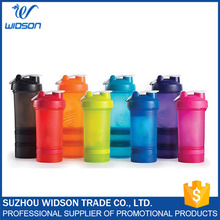 16oz/500ml 3 Layers Protein Powder Shake Plastic Water Bottle