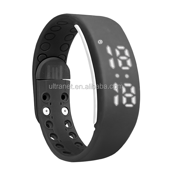 Hot selling smart silicone wristband pedometer watch with calories tracker and usb bracelet