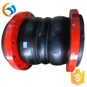 double arch rubber flexible joint for pvc pipe