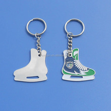 wholesale skating shoes ice hockey club logo keyring