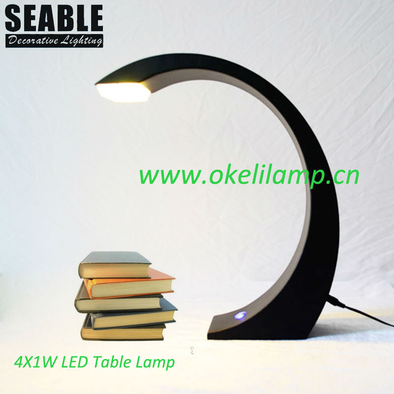 LED Table Light Black Color Modern/Concise LED Table Lamp, 4X1W