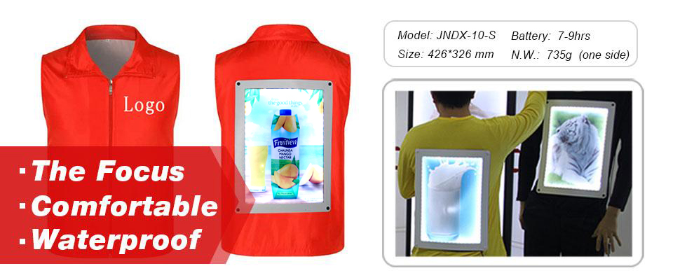 J6-049walking digital double sided led scrolling billboard, led backpack walking outdoor mobile advertising billboard