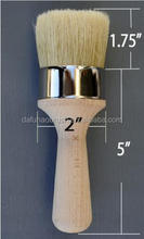 "chalk paint brush and wax brushes for furniture, 2"" oval paint brush"