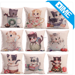 High Quality Creative Lovely Cats Fancy Pillow Cover