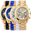 2018 OEM Gold Geneva Watches Women Cheap price wrist watch bracelet stainless steel women watch