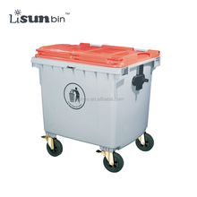 Foot pedal operated metal large dustbin waste bin 1100L
