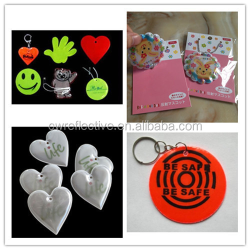 3M reflective doming stickers/Plastic Material and pvc key chain Type reflective PVC label