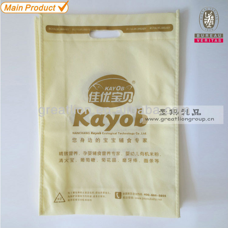d cut non-woven bags,heat press on the handle stitching on the sides