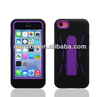 Rugged Silicone PC Hard Case Cover Belt Clip Stand for iPhone5c
