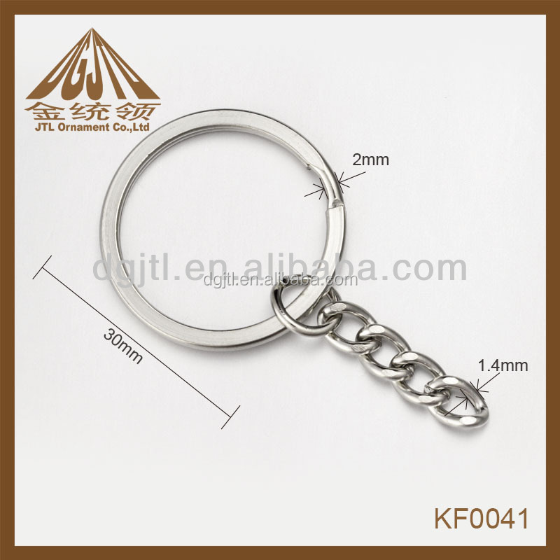 Fashion metal split keyring key chain