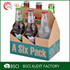Custom beer carriers cardboard 6 pack bottle beer carriers