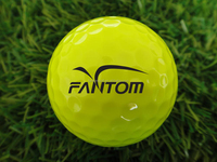 4 Pieces Golf Ball Urethane, Yellow Golf Ball Tournament by Fantom---312 Dimples