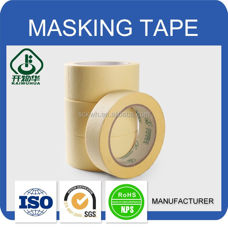 Best saling top quality China furniture masking tape yellow