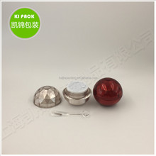 Ball shape acrylic double wall plastic cream jar 70ml 50ml 30ml 15ml 10ml 5ml