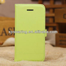 Mobile phone genuine leather case for iphone 5C with stand