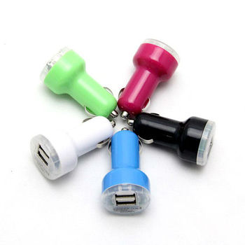 Colorful Dual USB Car Charger for iPhone iPad