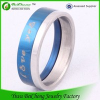 China supplier Simple design titanium stainless steel jewelry couples love band rings