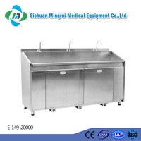 Classical models hospital pedal type stainless steel operating theatre sink
