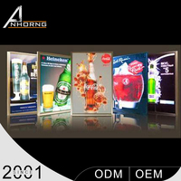LED Advertising Wire Hanging Super Slim Light Box Menu Board
