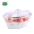 Disposable wholesale clear easy take away plastic food container with lid