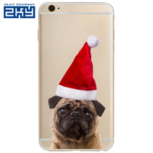 Christmas Cartoon Lazy Dog Phone Case For Iphone 5 5s 6 6s 6 Plus Cases