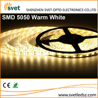 12V Waterproof Motorcycle 5050 5M 300 Led Strip Light Warm White